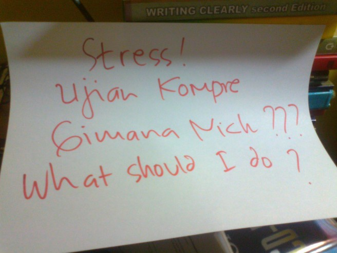 "Kondisi sebelum ujian sidang, ""Stress!"""