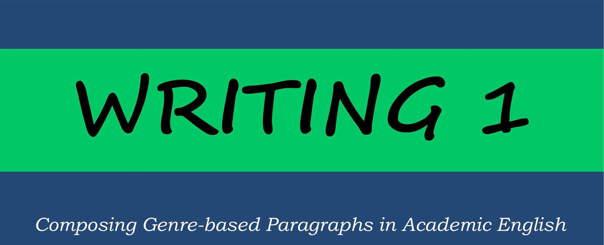 Learning Materials: ENGLISH PARAGRAPH WRITING Course